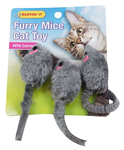 Leather Catnip Toys - Meow Moments Catnip Scented Toy Mouse, 1-Pack (3 Mice in Total)
