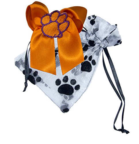 (Divine Creations NCAA Clemson Tigers Pet Bow with Pouch)