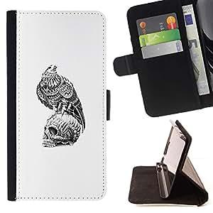 Momo Phone Case / Flip Funda de Cuero Case Cover - Cráneo Libertad Significado Profundo Hawk - Samsung Galaxy S3 III I9300