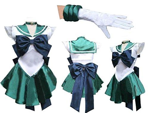 Sailor Neptune Cosplay Costume (Sailor Moon Sailormoon Neptune Michelle cosplay costume + glove + Tiara)