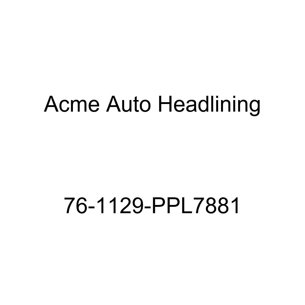 1976 Buick Century 4 Door Wagon T-Hanger Acme Auto Headlining 76-1129-PPL7881 Carmine Replacement Headliner
