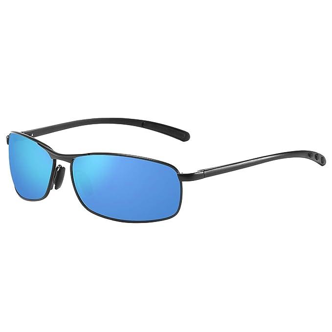 Amazon.com: Zhile - Gafas de sol polarizadas rectangulares ...