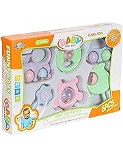 مجموعة شخشيخات للاطفال من بيل - 6 قطع - متعددة الالوان