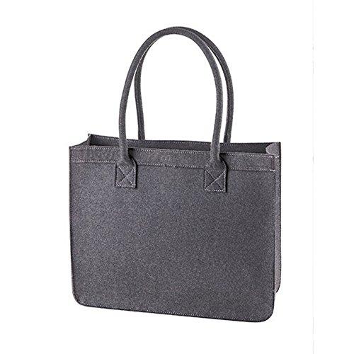 HALFAR® HF7556 City Shopper Modernclassic Freizeittaschen Einkaufstaschen Tasche, Farbe:Anthracite