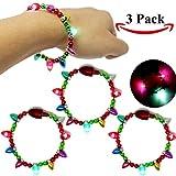 Toys : Joyin Toy 3 Pack LED Light Up Christmas Bracelets Set For Holiday Party Favors Goodie Bag Filler Stocking Stuffers