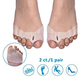 Toe Separator - Opoway Gel Toe Stretcher - Forefoot Cushion for Foot Pain Relief - Prevent Calluses and Blisters - for Men and Women (Model 2)