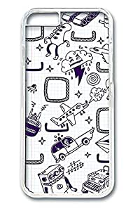 Doodles Polycarbonate Hard Case Cover for iphone 6 plus 5.5inch Transparent
