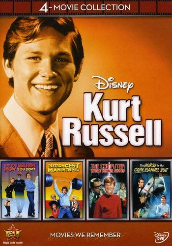 Disney 4-Movie Collection: Kurt Russell (Strongest Man in World / Computer Wore Tennis Shoes / Horse in the Grey Flanel / Now You See