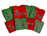 The Elf Family, Family Matching Shirts Christmas Custom Gift
