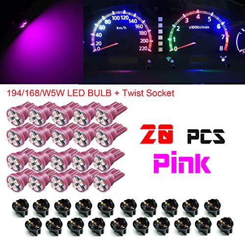 PA 20x T10 168 194 Led instrument Panel Dash Light Bulb 1/2
