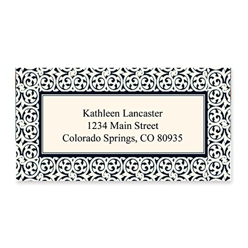 Ornate Scroll Border Sheeted Address Labels - 144 Address Labels - 2 1/2 Inches Long x 1 1/4 Inches High