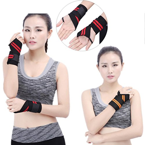 Baby Weightlifter Costume (Creazy Wrist Wrap 18inch Professional Grade With Thumb Loops Wrist Support Braces)