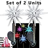 Sparkling Solar Star Lights Garden Stake (Set of 2) by Brilliant & MoTM