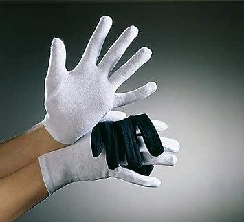 Niños guantes de algodón, de color blanco: Amazon.es: Juguetes y juegos