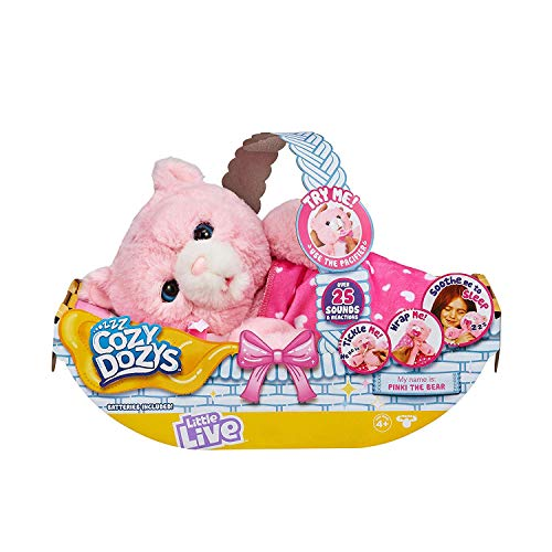 Little Live Pets Cozy Dozy Pinki The Bear – Over 25 Sounds and Reactions | Bedtime Buddies, Blanket and Pacifier…