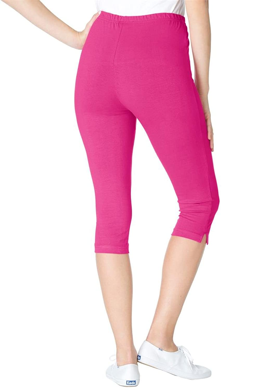 Women's Plus Size Petite Leggings, Capris In Stretch Knit at ...