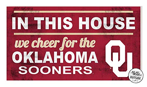 KH Sports Fan 20x11 in\Outdoor Sign in This House Oklahoma Sooners