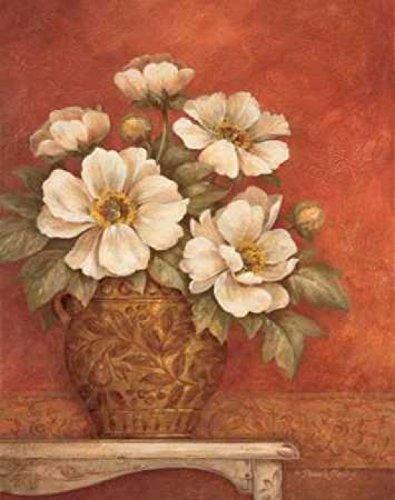 Posterazzi Villa Flora Peonies Poster Print by Pamela Gladding, (22 x 28)