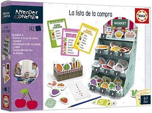 Educa- Aprender es Divertido: La Lista de la Compra, Aprende sobre Alimentos y su importancia nutricional Juego Educativo para niños, a Partir de 5 años (18704): Amazon.es: Juguetes y juegos