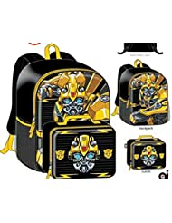 Transformers Bumblebee Boys Kids School Backpack Bookbag Lunch Box Combo Set