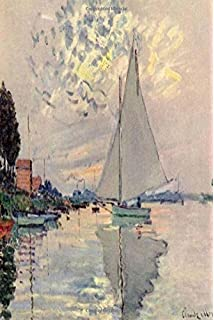 journal claude monet 1874 simple lined page journal