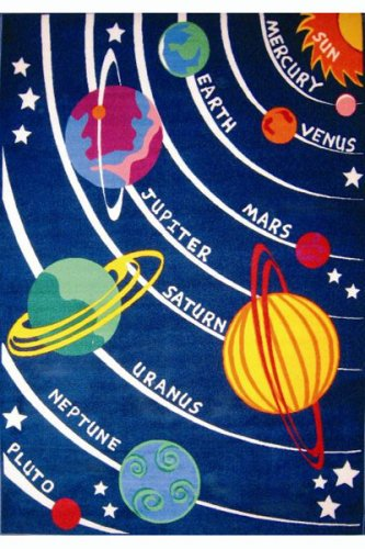 Solar System Kids Rug - Size 5ft 3in x 7ft 6in by Fun Rugs