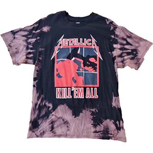 "Hand Bleached Vintage Inspired Metallica ""Kill Em All"" Band Tee"