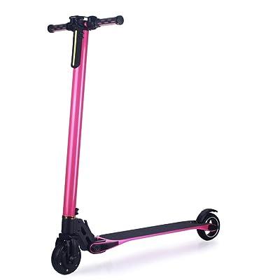 HimanJie 6.6Ah LG 18650 batterie au lithium 2 roues fibre de carbone pliable scooter électrique avec contrôleur sans fil pour les adultes