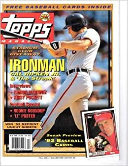 Topps Magazine Fall 1991 Collectors Edition 8 Cal