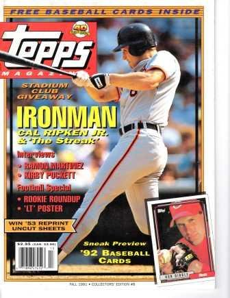 Topps Magazine; Fall 1991, Collectors' Edition #8 (Cal Ripken Jr. cover) (Edition #8) ()