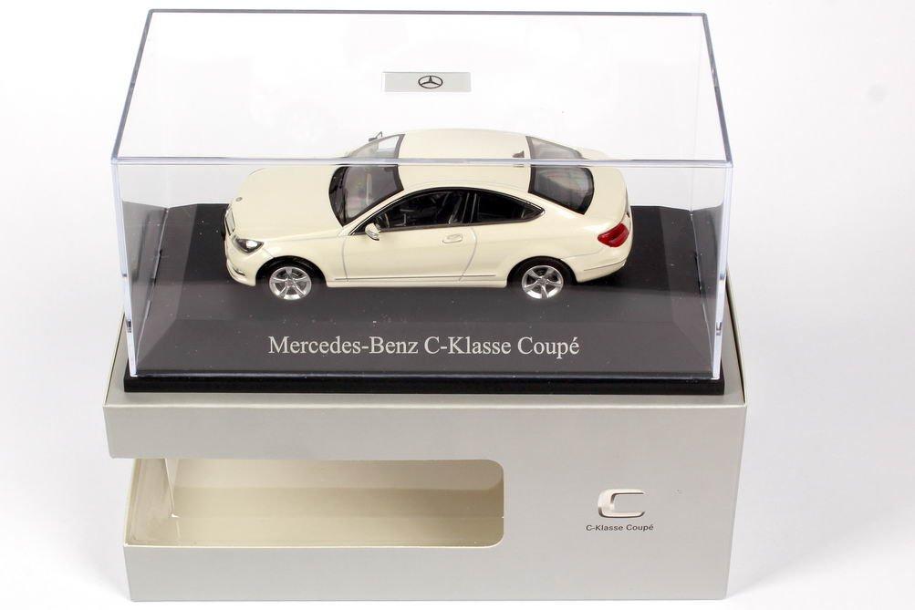 met.-weiss C204 Modellauto Norev 1:43 Fertigmodell Facelift Mercedes C-Klasse Coupe