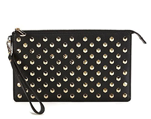 Michael Kors Daniela Medium Studded Wristlet Black (Black)
