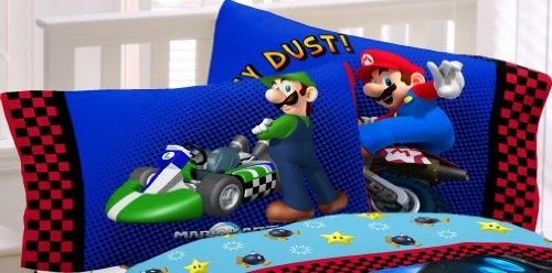 Super Mario Race Reversible Pillowcase