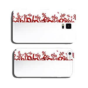 White paper note over percent signs. cell phone cover case Samsung S6
