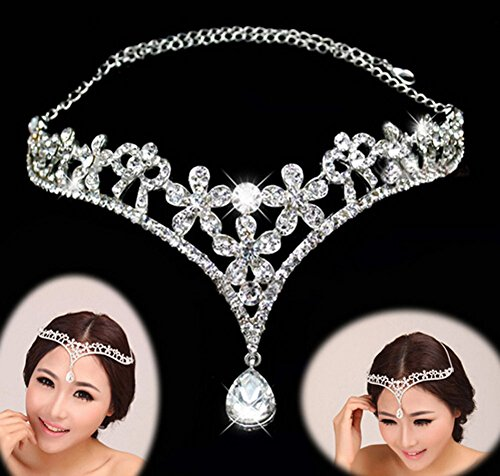 Luxury Bride Tassel Headdress Headband Hair Chain Jewelry Decoration Lady Women Rhinestone Wedding Hair Band