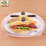 #4: Microwave Hover Anti-Sputtering Cover, New Food Splatter Guard Microwave Splatter Lid with Steam Vents | 11.5 – Inch