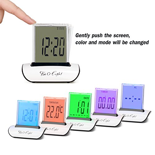 five0eight digital alarm clock small table desk clock with. Black Bedroom Furniture Sets. Home Design Ideas