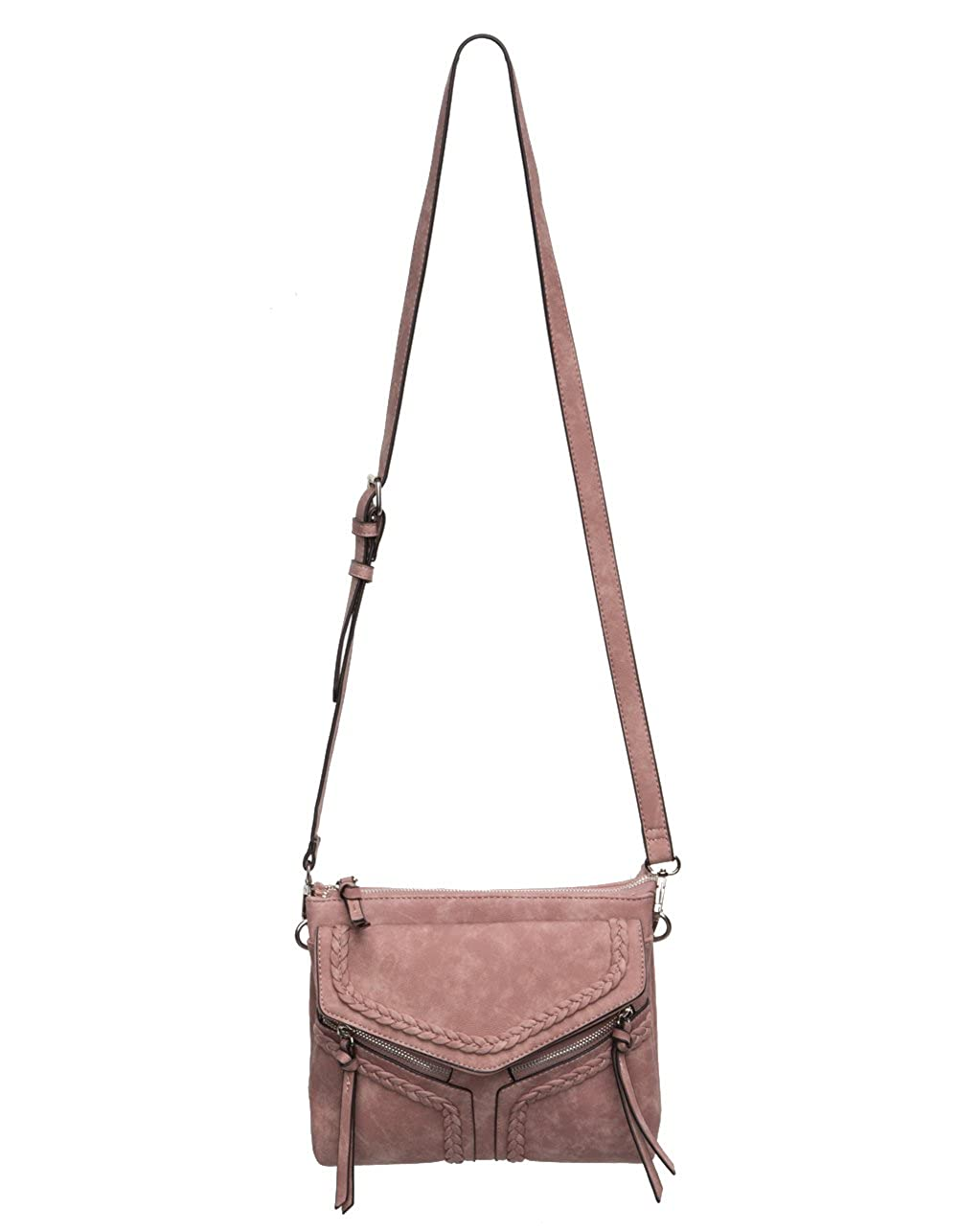 0030c77a3084 VIOLET RAY Leanna Braided Crossbody Bag
