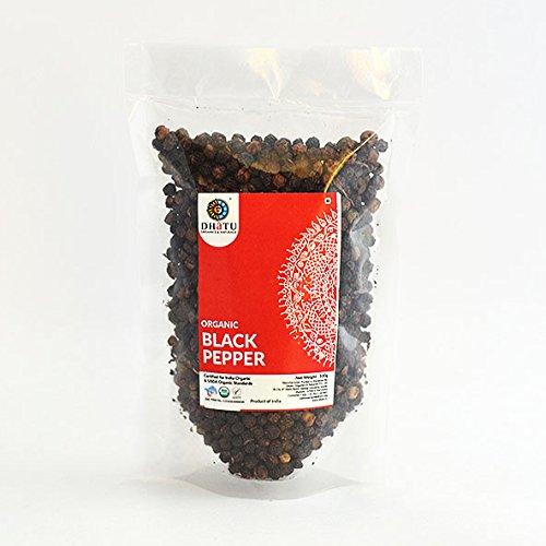 Dhatu Organics Organic Black Pepper Pure Indian taste cuisine Indian food - Quick cook, good for health100g
