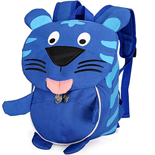 (Cute Tiger Backpack for Toddlers Safety Harness Kid Daycare Chest Strap Bookbag)