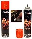 neon gas - Neon Universal Gas Lighter Refill- 5X Refined Premium Butane 6 Pack
