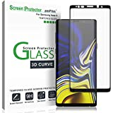 Galaxy Note 9 Screen Protector Glass (Full Screen Coverage), amFilm Tempered Glass Screen Protector for Samsung Galaxy Note 9 - Dot Matrix, Case Friendly, 3D Curved with Easy Installation Tray - 2018
