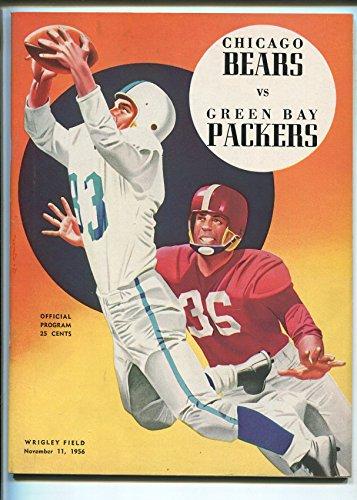 CHICAGO BEARS VS GREEN BAY PACKERS NFL FOOTBALL PROGRAM 11/11/1956-WRIGLEY-vf/nm ()