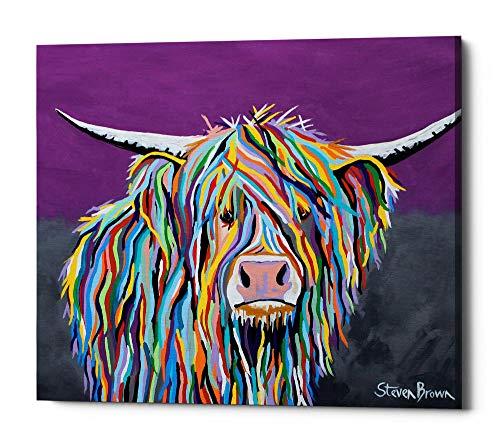 Epic Graffiti Angus McCoo by Steven Brown Giclee Canvas Wall Art, 20 x 24 , Purple