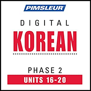 Korean Phase 2, Unit 16-20 Audiobook