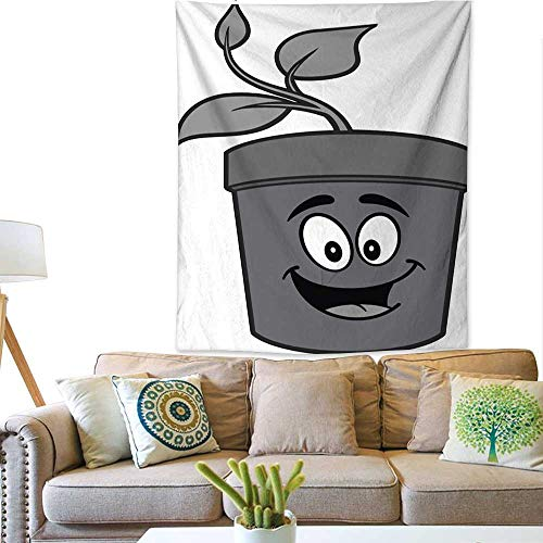 Colorful Tapestry Potted Plant Mascot Illustration 70W x 93L INCH