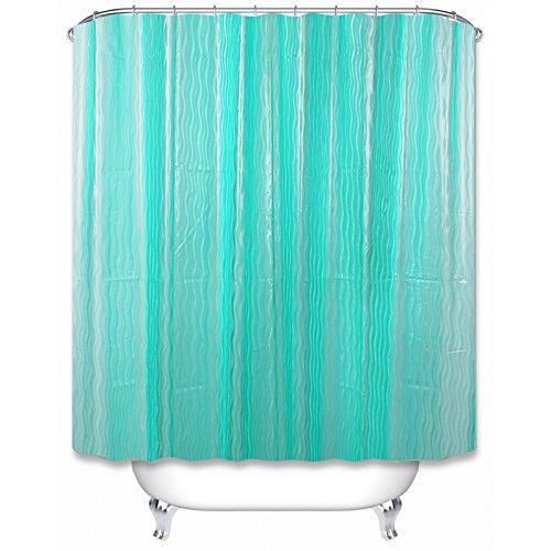 Green Tree Cortina de ducha sin olor EVA con ganchos multiusos para el hogar y la ducha de camping (Verde)