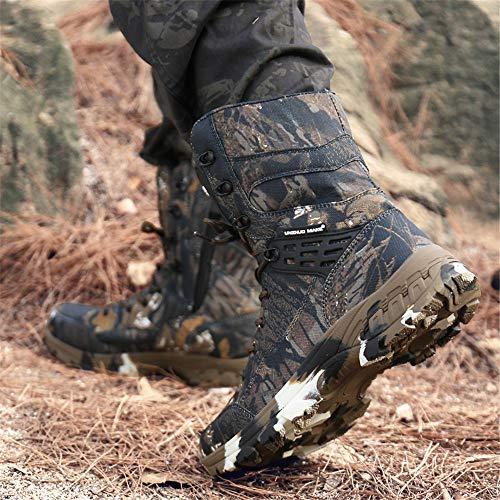 WOJIAO Outillage Tactique pour Hommes Bottes Militaires Quatre Saisons imperméable Antidérapant Chaussures pour Hommes… 7