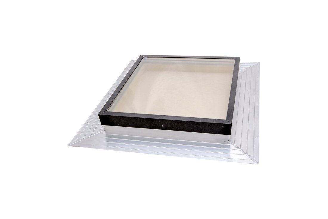 SIG Skylights FMB 24x24 Deck Mounted, Self-Flashed Glass Skylight with Bronze Insulated Glass