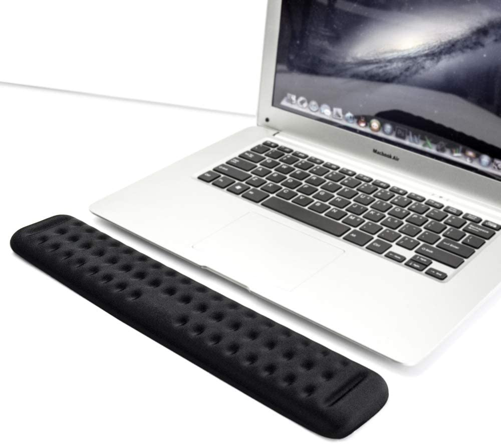 Keyboard Wrist Rest Gaming Tenkeyless Memory Foam Hand Palm Rest Wrist Rest Support for Office, Computer, Laptop, Mac Typing and Wrist Pain Relief and Repair (14.2 inch, Black)